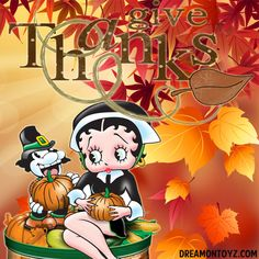 51 Best Thanksgiving Betty Boop Graphics & Greetings images.