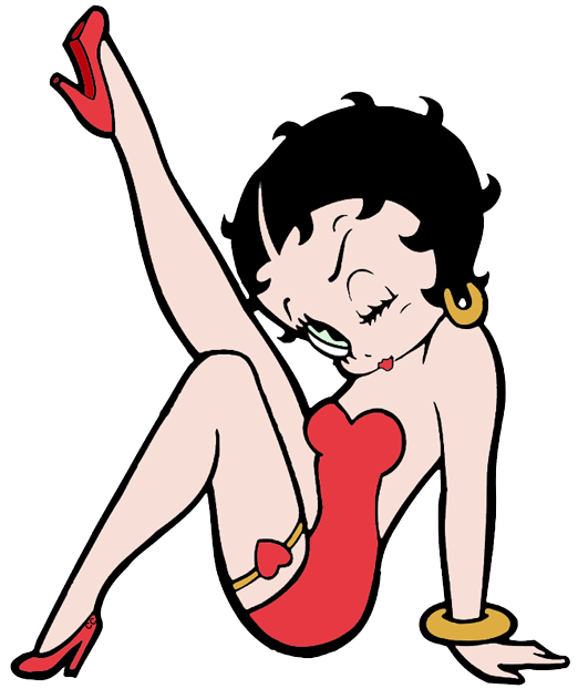 Betty Boop Clip Art Images.