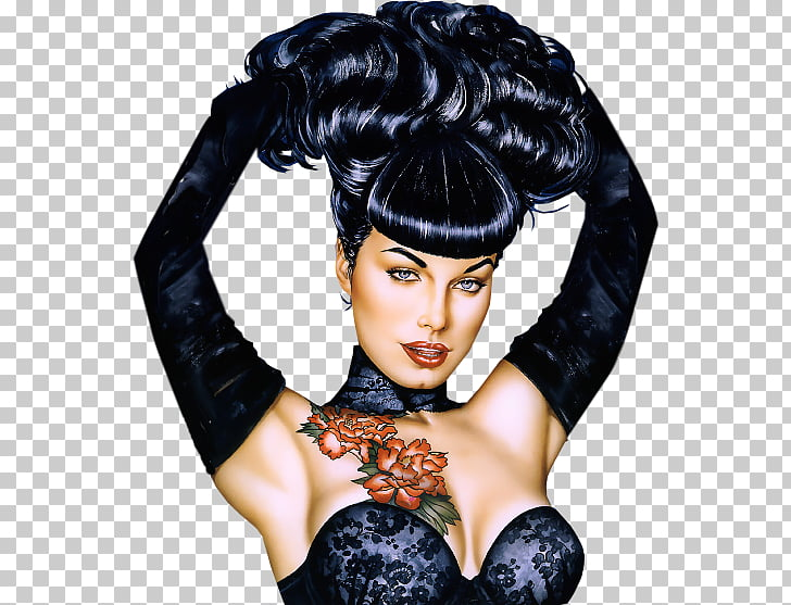Bettie Page by Olivia Pin.
