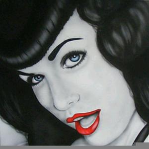 Bettie Page Art.