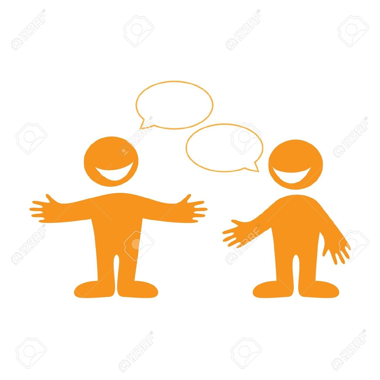 Two people arguing and a lawyer in between clipart.
