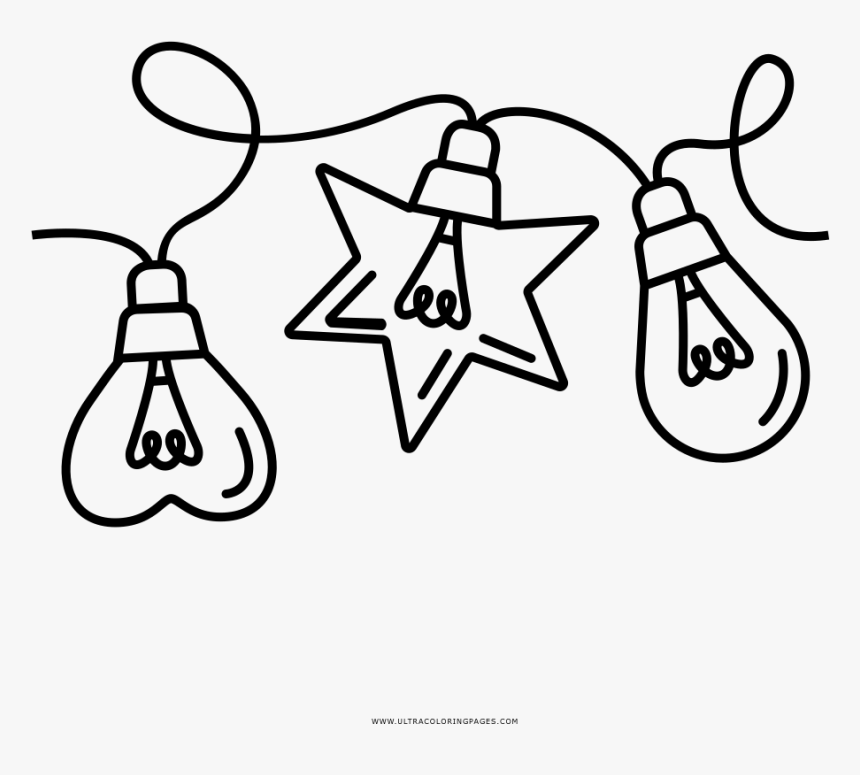 Christmas Lights Coloring Page.