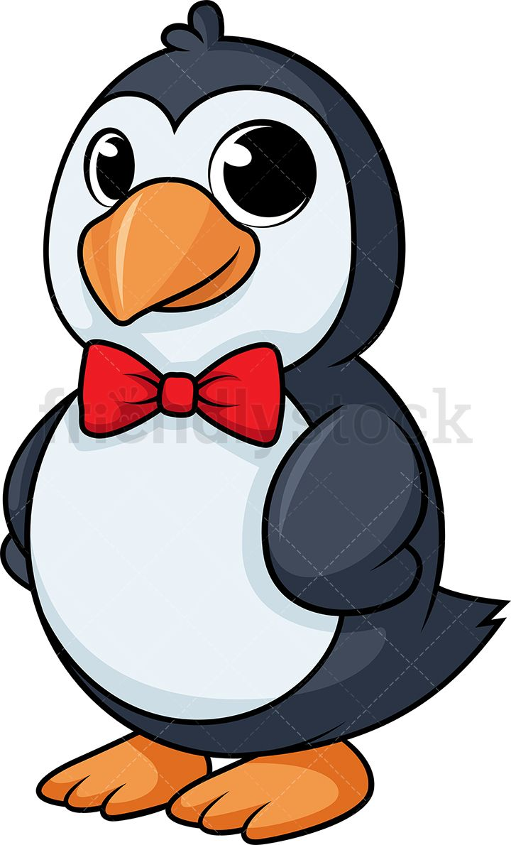 Classy Penguin With Bow Tie.