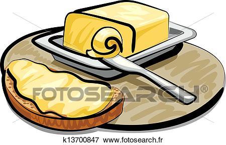 Beurre, à, sandwich Clipart.