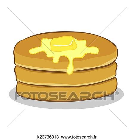 Pan cake, à, beurre Clipart.