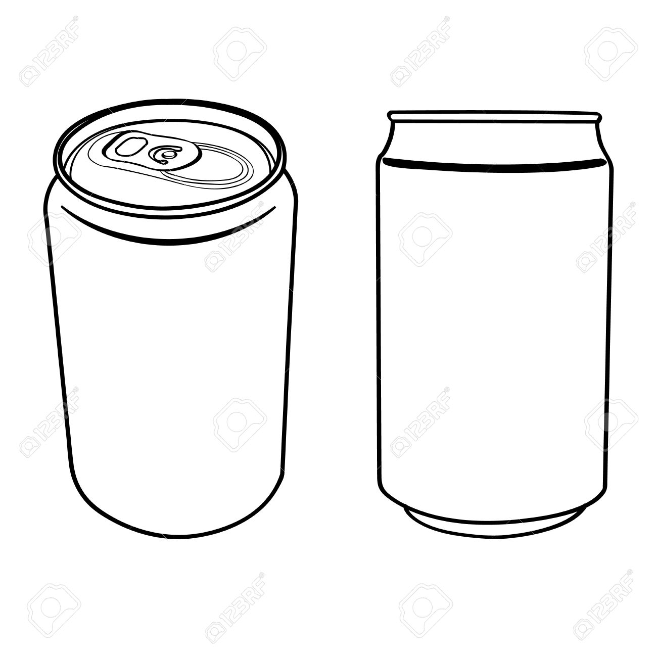 Beverage Can Outline Vector Royalty Free Cliparts, Vectors, And.