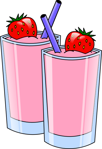 Strawberry Smoothie Drink Beverage Cups clip art Free Vector / 4Vector.