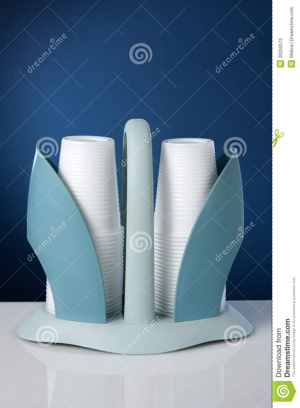 Disposable Cup Holder Stock Photo.
