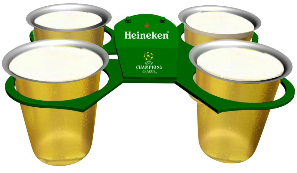 Beer Holders as promotional advertising.