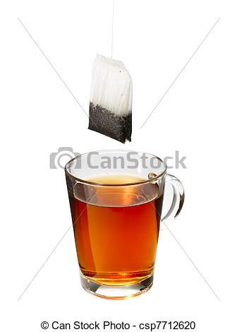 Stock Photography of Teabagging Tea.