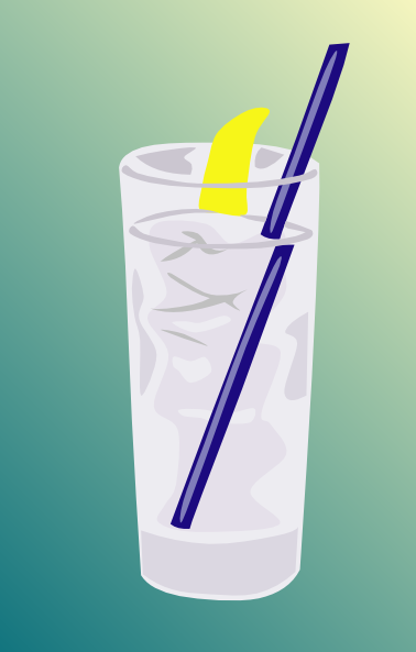 Ice Water Glass clip art Free Vector / 4Vector.