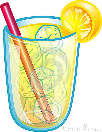 Glass Ice Cold Lemonade Stock Illustrations.
