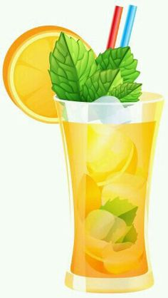 Summer Orange Cocktail PNG Clipart.