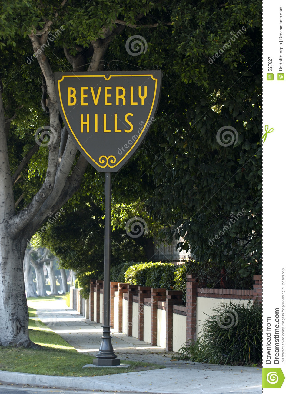 Beverly Hills Sign Royalty Free Stock Photography.