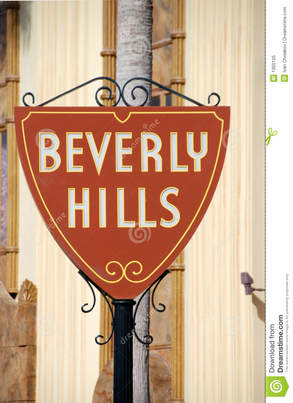 Welcome Sign To Beverly Hills Royalty Free Stock Photo.
