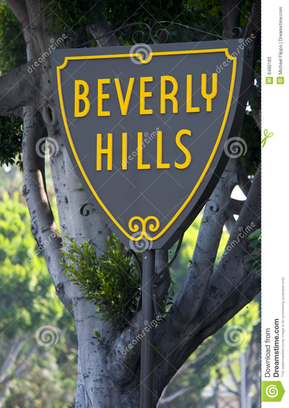 Beverly Hills Sign Stock Photos.