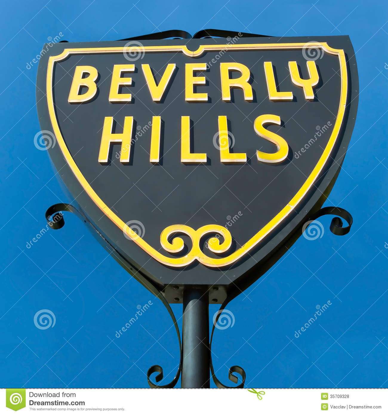 Beverly Hills Sign Stock Photography.