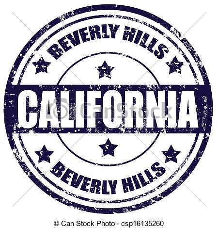 Clip Art Vector of Beverly Hills.