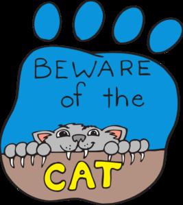 Beware Of Cat Clip Art.