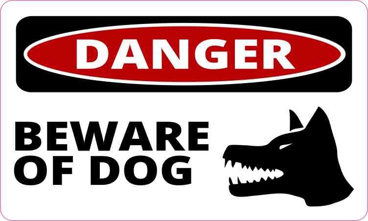 5in x 3in Danger Beware of Dog Magnet Vinyl Magnetic Animal Sign.