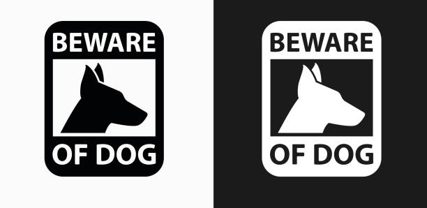 Best Beware Of Dog Sign Illustrations, Royalty.