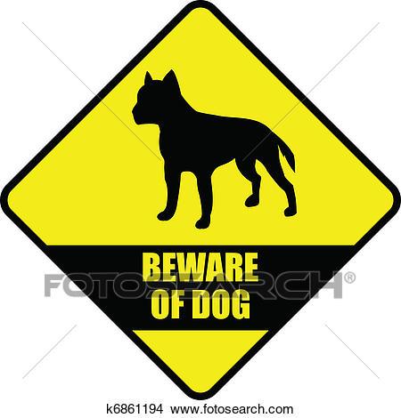 Beware of dog Clipart.