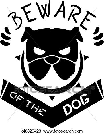 Beware of the dog Clipart.