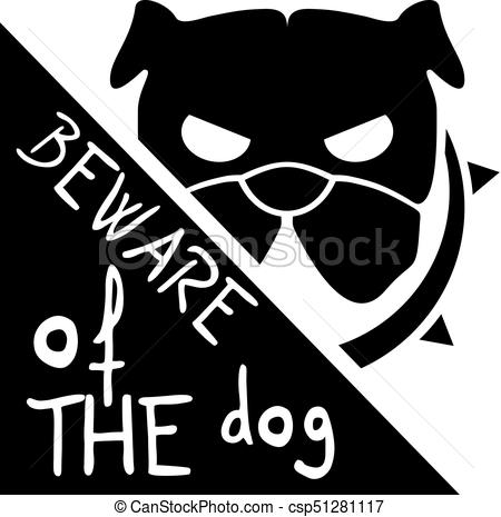 Beware of the dog Illustrations and Clipart. 62 Beware of the dog.
