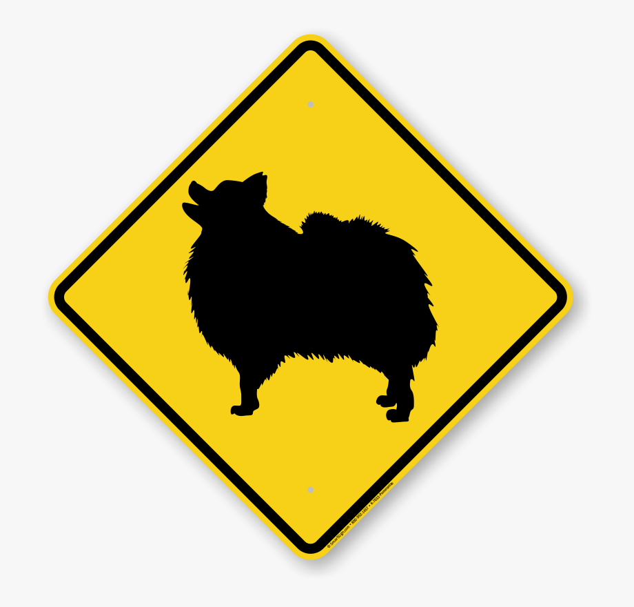 Pomeranian Symbol Guard Dog Sign.