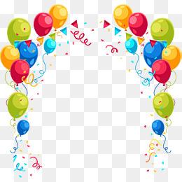 Balões Coloridos PNG Images.