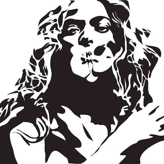 Beyonce Digital Download Art Print. Black & White, Minimal.
