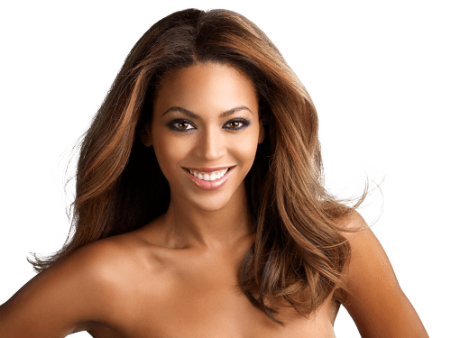 Smiling Beyonce transparent PNG.
