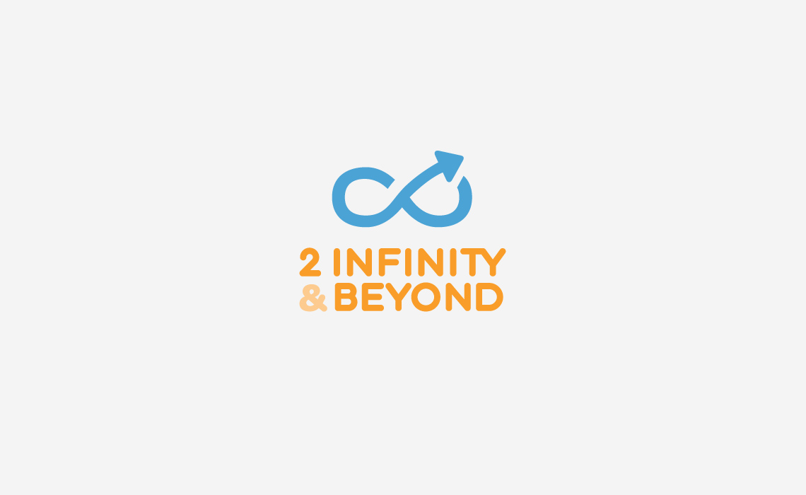 2 Infinity and Beyond Logo Design.