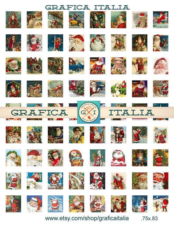 SANTA Claus Collage Sheet.