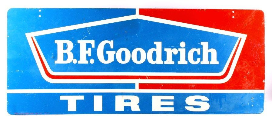 B.F. Goodrich Tires Double Sided Advertising Sign.