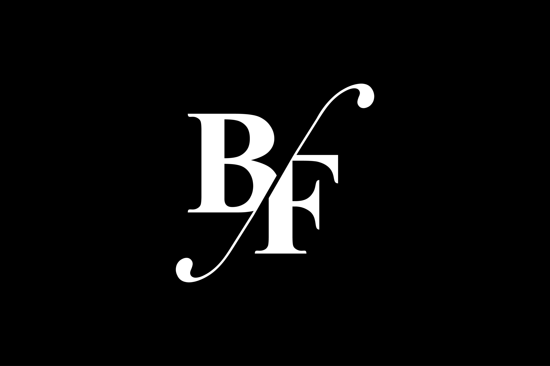 BF Monogram Logo Design By Vectorseller.