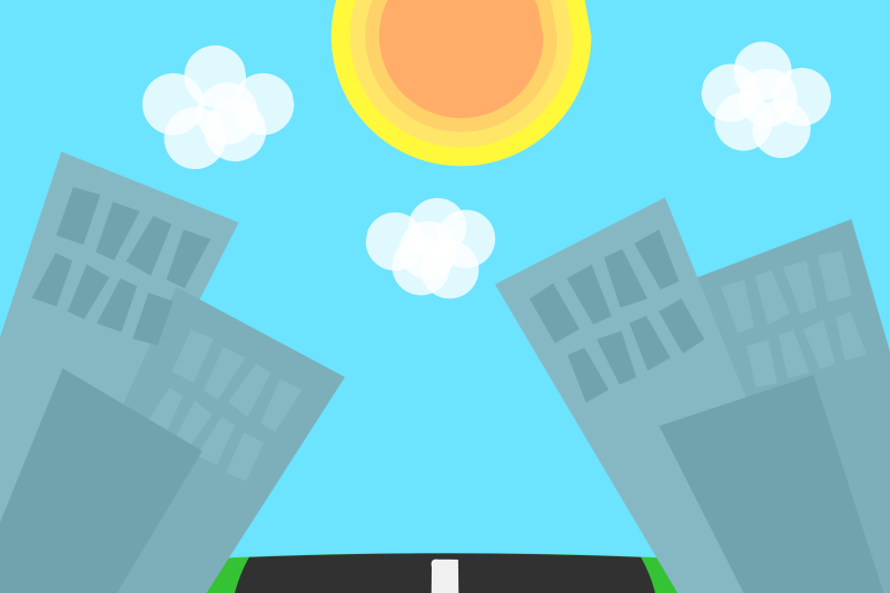 Free Clipart: Cartoon Cities Background.