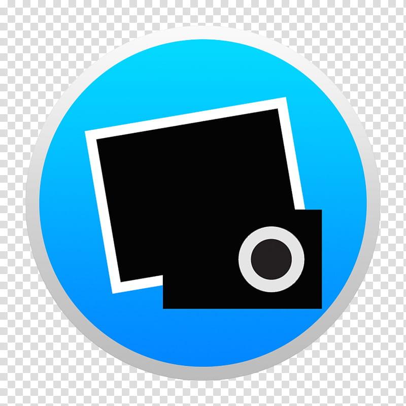Black And Colorful Yosemite Style Icons, Blue i W: BG.