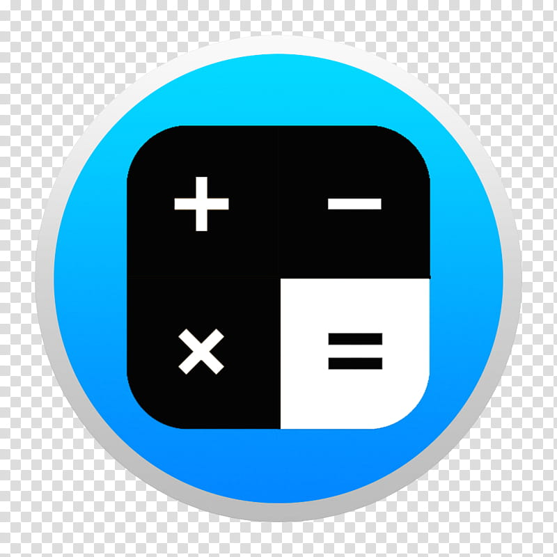 Black And Colorful Yosemite Style Icons, Blue Calculator W.
