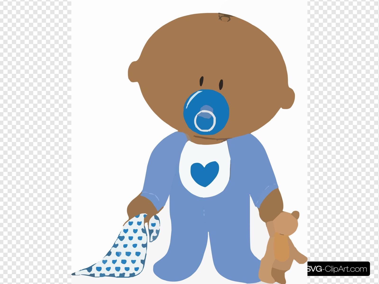 Baby Boy With Teddy Clip art, Icon and SVG.