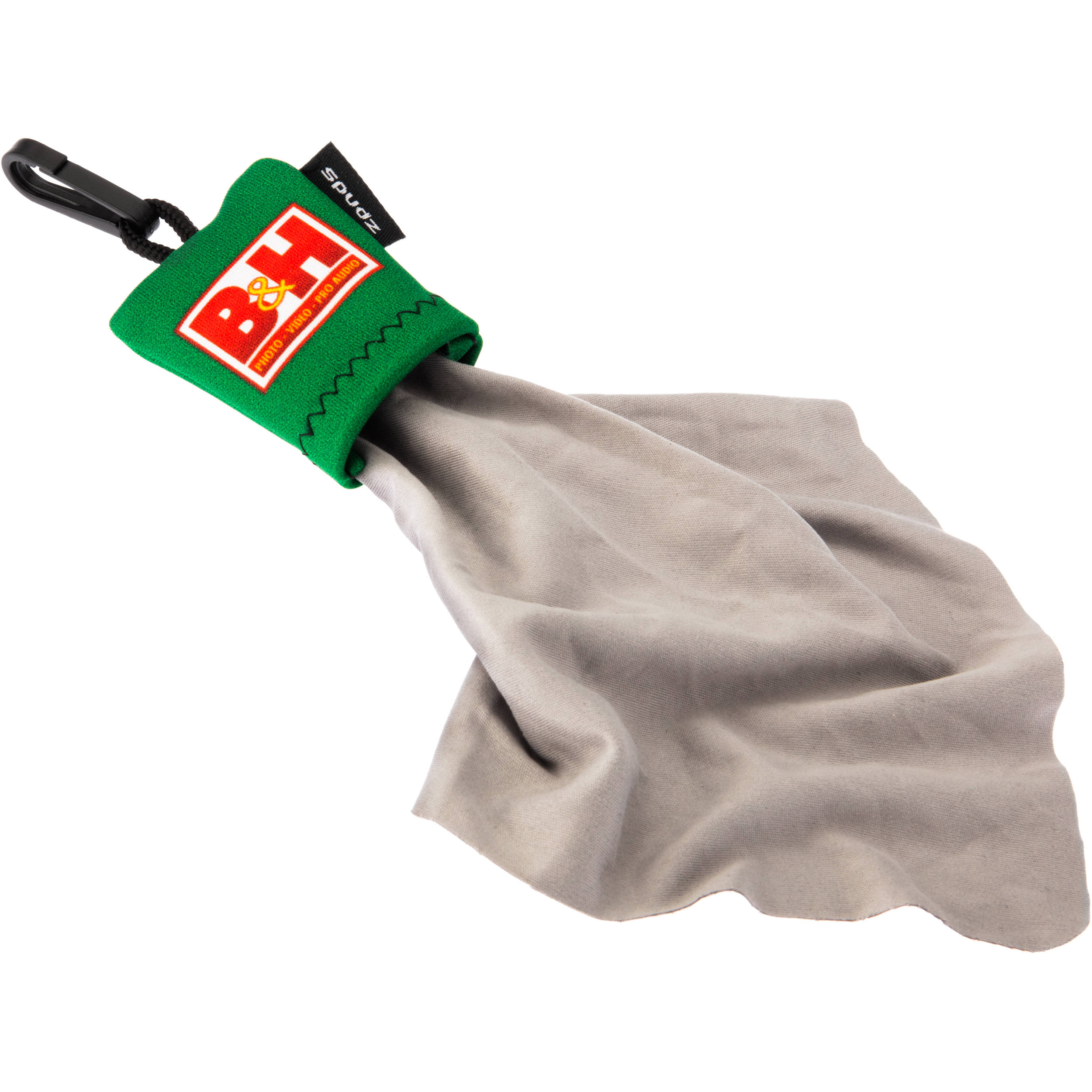 Spudz Microfiber Cleaning Cloth with B&H Logo.