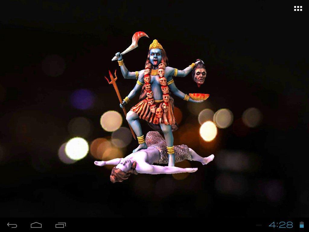 3D Maa Kali Live Wallpaper.