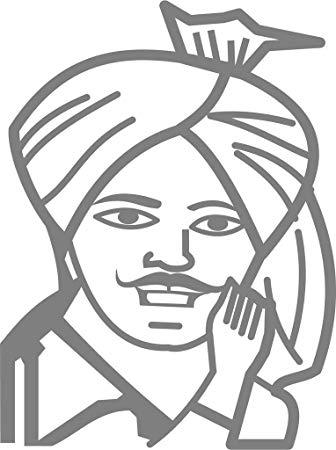 Fusion Shahid Bhagat singh Hood, Sides, Windows Car Sticker.