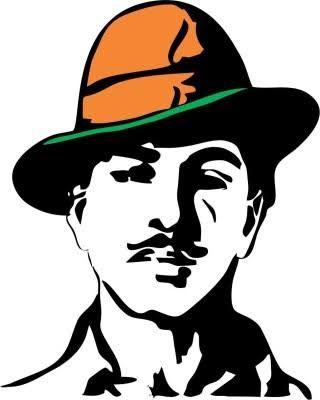 Image result for bhagat singh silhouette.