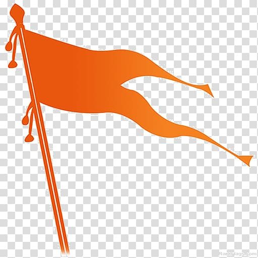 Bhagwa Jhanda transparent background PNG cliparts free.