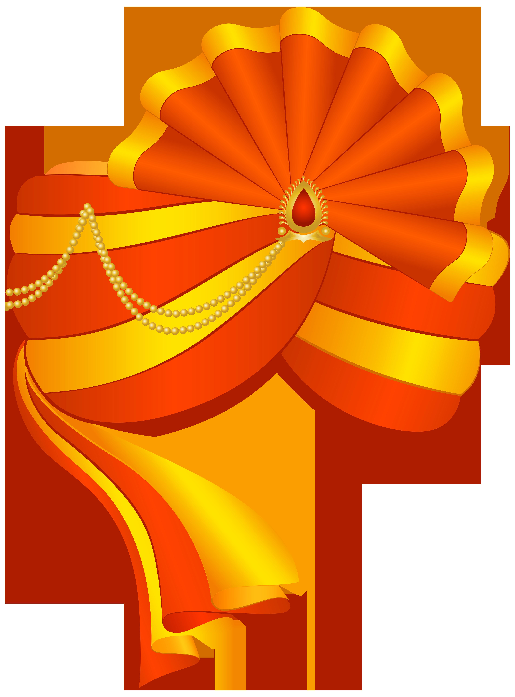 Indian Turban PNG Transparent Clip Art Image.