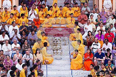 Rishikesh Bhajan Program Editorial Photography.