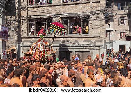 "Stock Photography of ""Scene from the Balkumari Jatra festival."