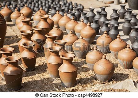 Stock Photos of Pottery Making, Bhaktapur, Nepal.