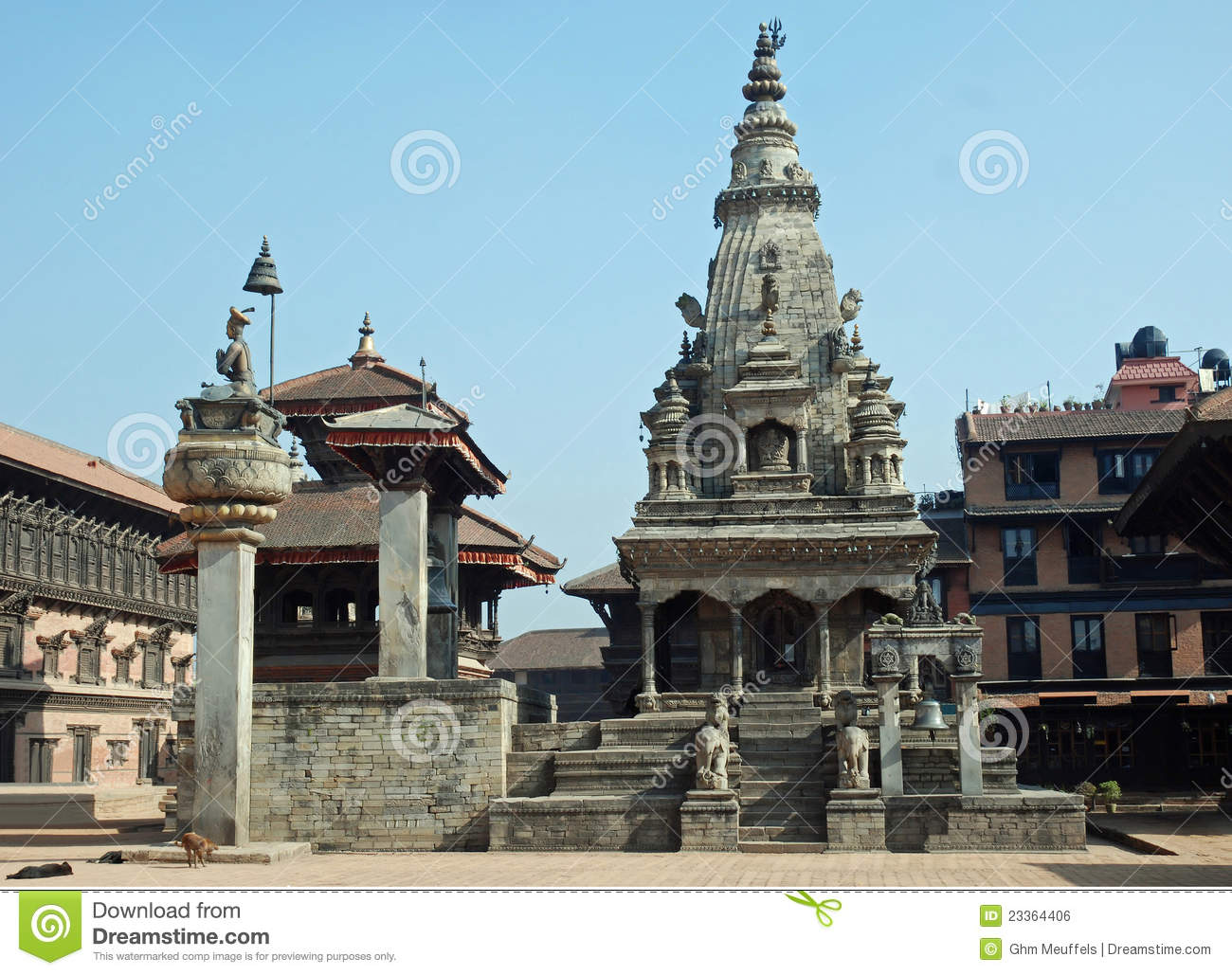 Durbar Square With Vatsala Temple.